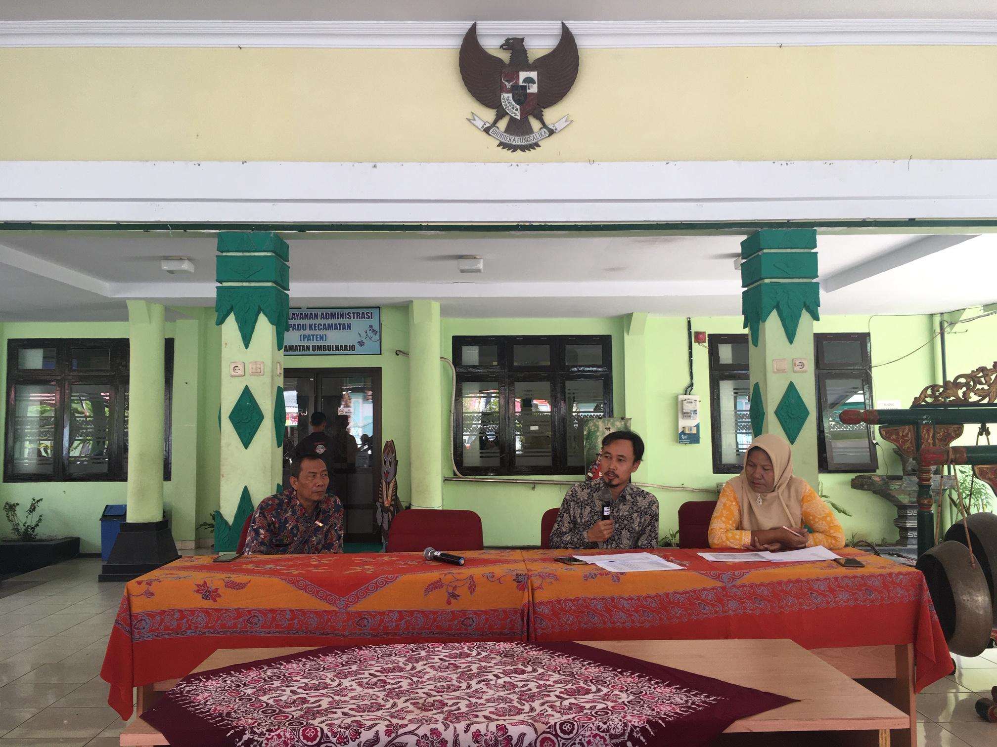 Tim Pengendalian Fisik melakukan Kunjungan Pekerjaan  ke Kecamatan Umbulharjo