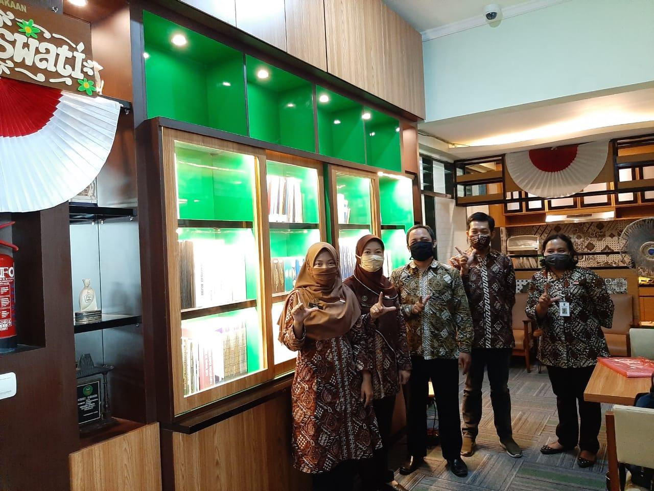 Visitasi Dinas Perpustakaan Kota Yogyakarta ke Perpustakan Saraswati Bagian Dalbang Setda Kota Yogyakarta